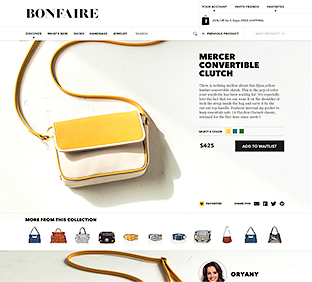 photo of bonfaire product page